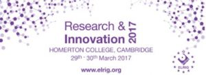 ResearchInnovation ELRIG17
